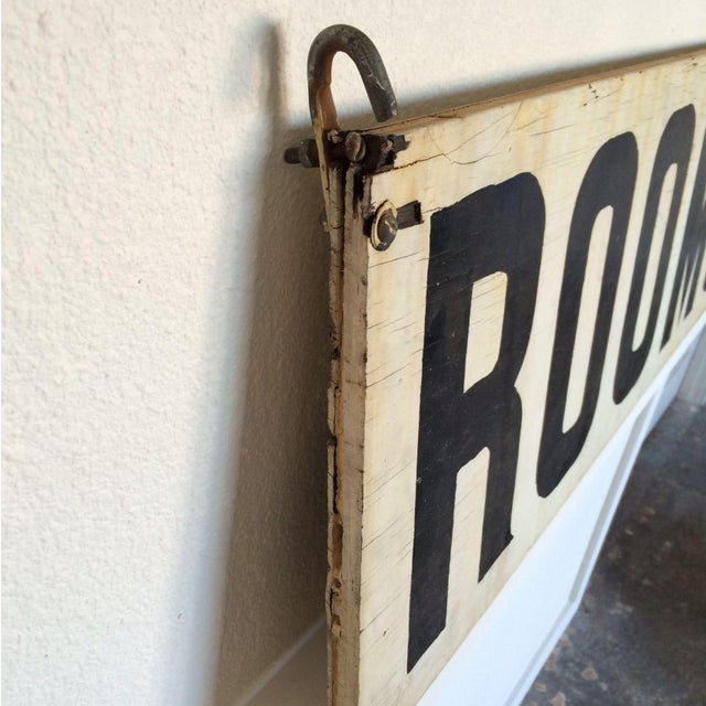 "Vintage Wood ""Rooms"" Sign - Image 5 of 6"