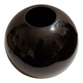 Vintage Black Royal Haeger Ceramic Vase For Sale