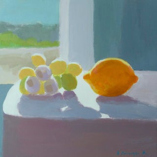 Grapes and a Lemon by Anne Carrozza Remick For Sale