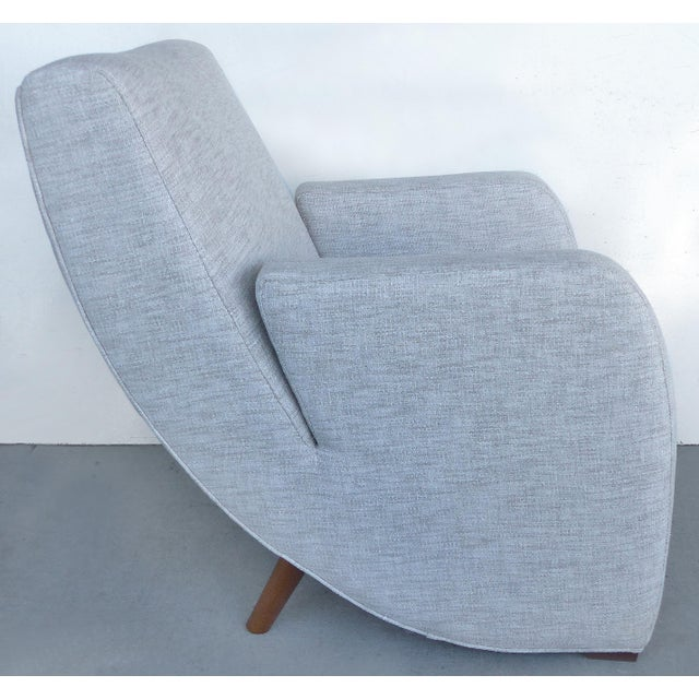 Mid-Century Modern Upholstered Club Chairs-a Pair - Image 4 of 10