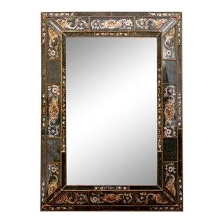 Mid 20th Century Paradigm Furnishing Églomisé Large Rectangular Wall Mirror For Sale