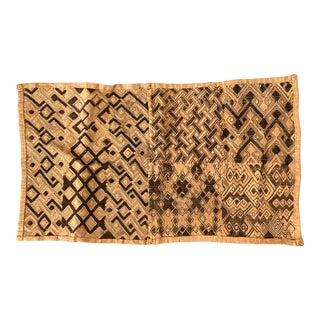 1930s Vintage Kuba African Woven Raffia Fabric For Sale