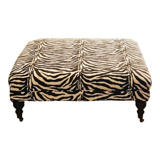 Zebra Ottoman Coffee Table