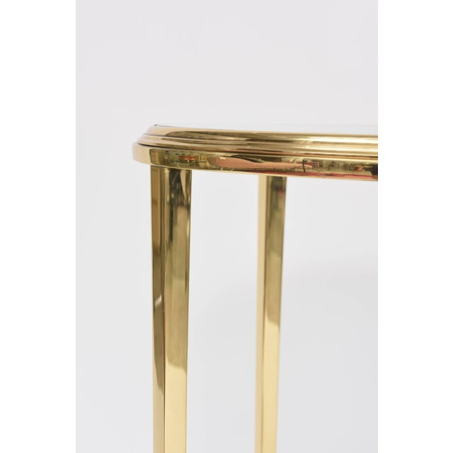 Mid 20th Century 1960s Neoclassical Revival Round Brass Side Table For Sale - Image 5 of 10