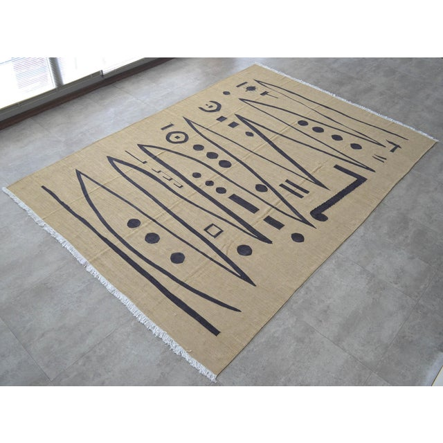 Paul Klee - Heroic Strokes of the Bow - Inspired Silk Hand Woven Area - Wall Rug 5′11″ × 8′5″ For Sale - Image 6 of 12