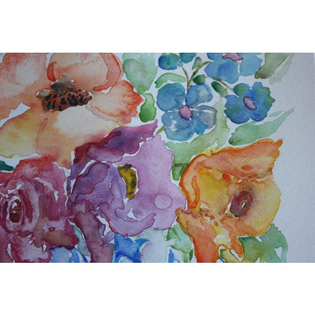Original Watercolor Chinoiserie Floral - Image 2 of 2