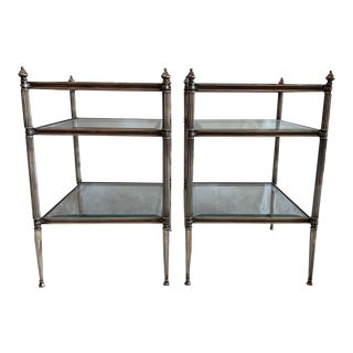 "Traditional Ferrell Mittman ""Amanda"" Silver Plated End Tables - a Pair For Sale"