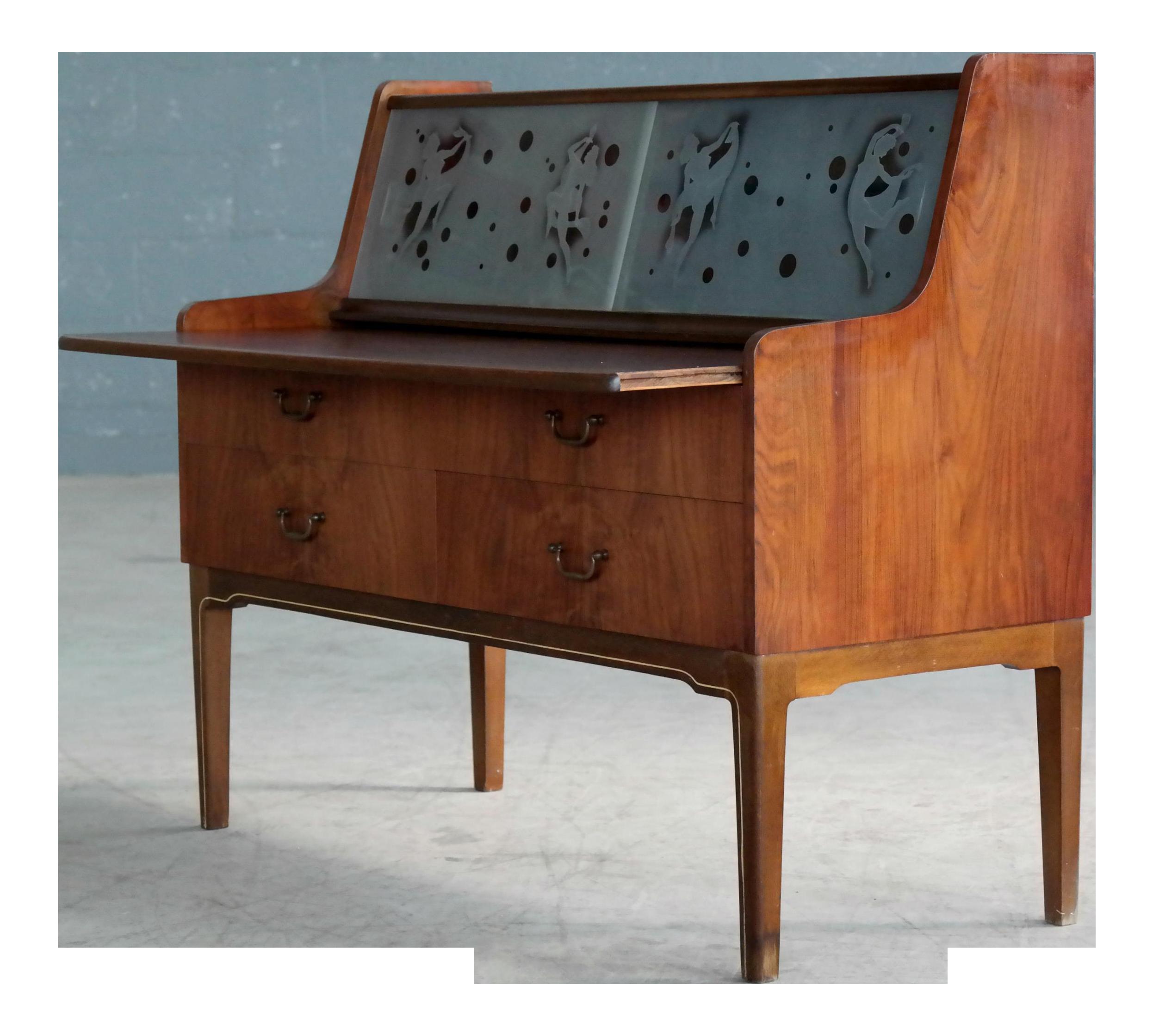 custom standing desk kidney shaped mid. Wonderful Shaped Danish Mid Century Modern Petite Vanity Desk With Glass Etchings To Custom Standing Kidney Shaped