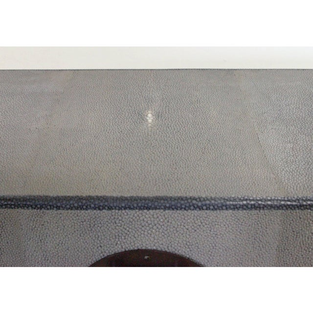 Gray Shagreen Wood Box by Fabio Ltd (2 Available) For Sale In Palm Springs - Image 6 of 7