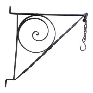 Antique Wall Wrought Iron Hanger/ Hook For Sale