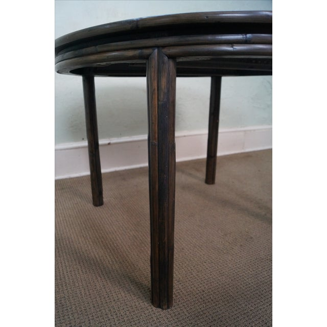 McGuire Vintage Bamboo Rattan Dining Table For Sale - Image 5 of 10