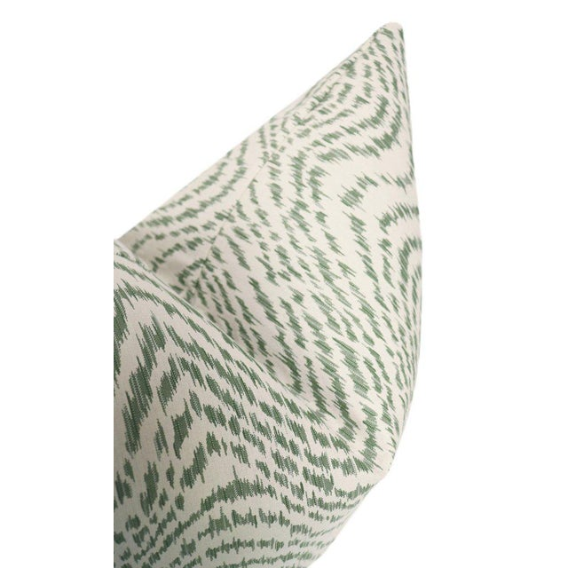 """22"""" Olive Flamestitch Pillows - a Pair For Sale - Image 4 of 5"""