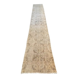 Hand Knotted Wool Runner- 2′4″ × 15′ For Sale