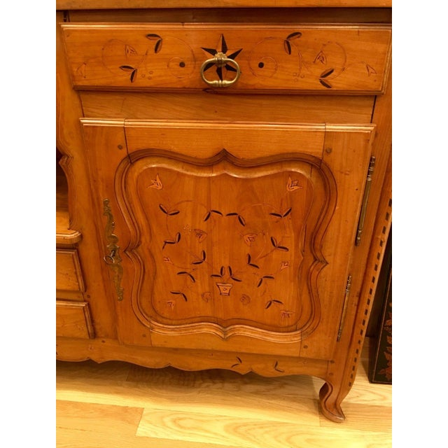 Antique French Country Inlaid Fruitwood Buffet or Sideboard For Sale - Image 4 of 6