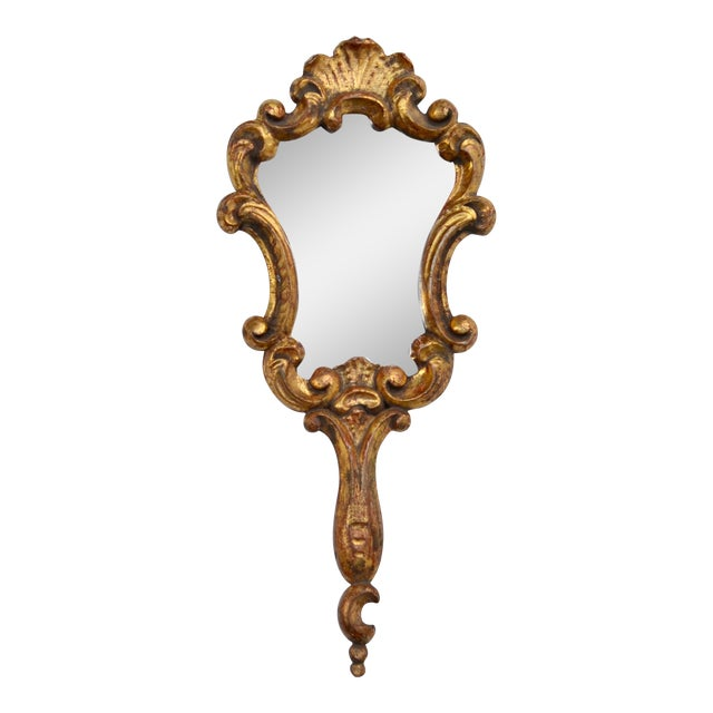 Antique Italian Gold-Leaf Mirror For Sale