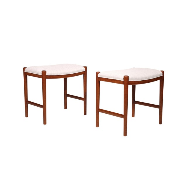 Pair of teak Danish stools.
