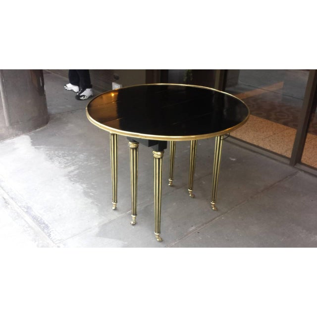 Mid 20th Century Exquisite Maison Jensen Ebonized Mahogany Dining Table For Sale - Image 5 of 8