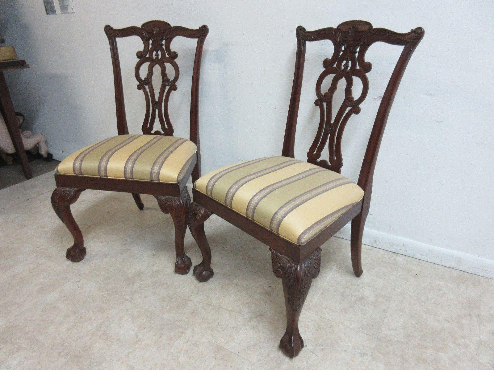 Delicieux Ethan Allen 18th Century Mahogany Chippendale Ball U0026 Claw Dining Chairs   A  Pair   Image