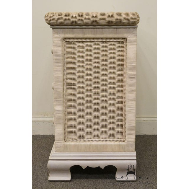 20th Century Country Pennsylvania House White Wicker Nightstand For Sale - Image 9 of 13