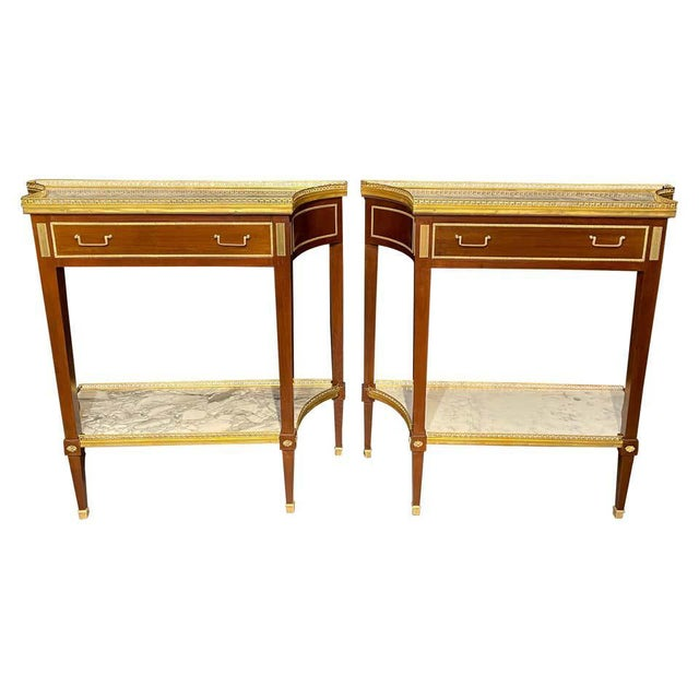 Russian Neoclassical Console Tables, Sofa Tables or Bedside Stands - a Pair For Sale - Image 12 of 12