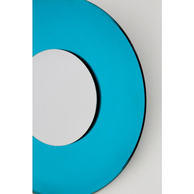 Mirror Blue Contemporary Fashion in Style Fontana Arte by Effetto Vetro, 2010 For Sale - Image 9 of 11