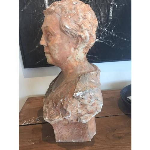 1930s Terra Cotta Bust, Early 20th Century For Sale - Image 5 of 10