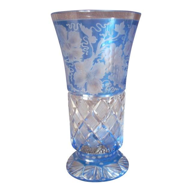 Antique Clear Blue Vase Chairish