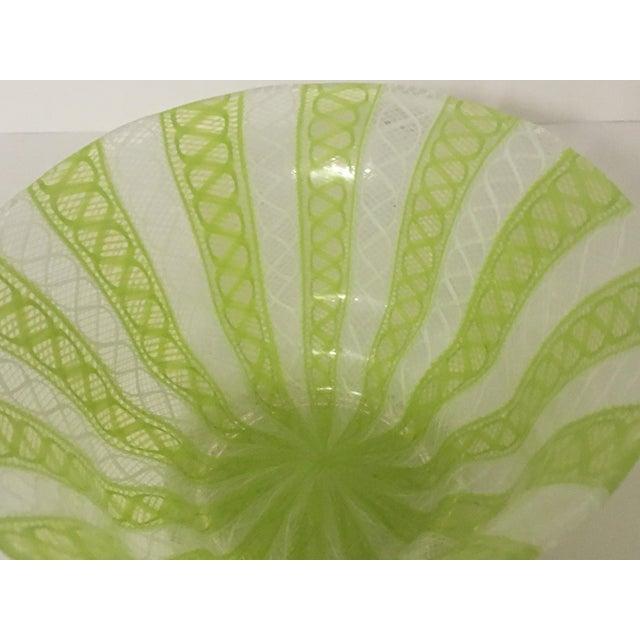 Latticino Italian Glass Bowl - Image 8 of 8