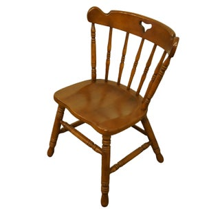 Late 20th Century Tell City Colonial Style Solid Hard Rock Maple Dining Side Chair Preview