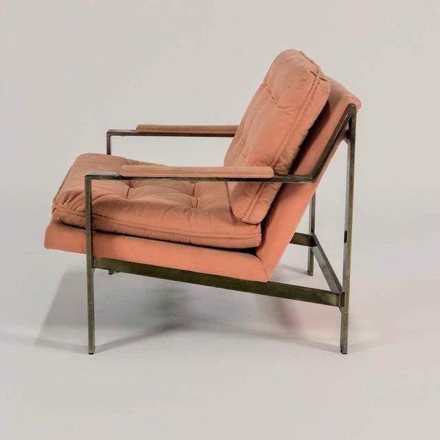 Cy Mann 1970s Mid-Century Modern Cy Mann Peach Lounge Chair For Sale - Image 4 of 6