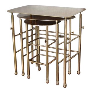 Solid Brass Custom Nesting Tables - Set of 3