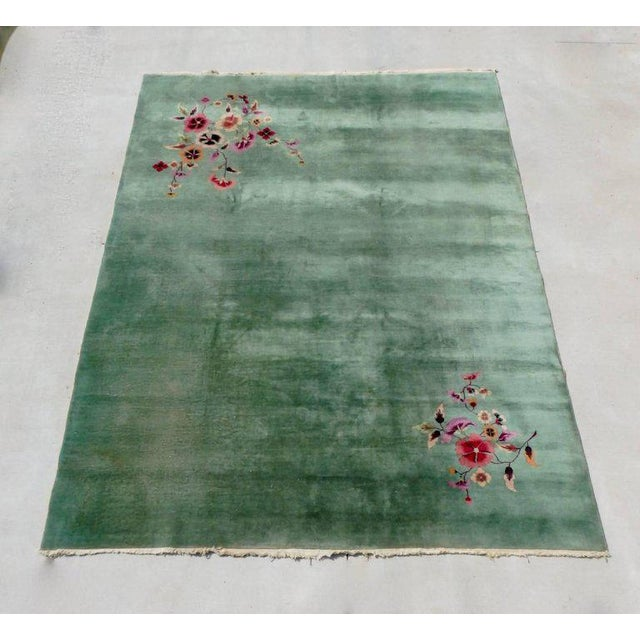 Art Deco Nichols Chinese Deco Art Deco Rug For Sale - Image 3 of 8