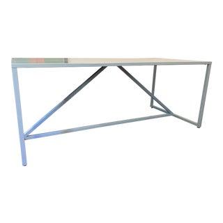 Minimalist Design Within Reach Powder Blue Strut Table For Sale