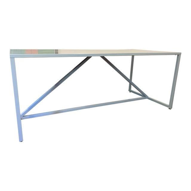Sensational Minimalist Design Within Reach Powder Blue Strut Table Uwap Interior Chair Design Uwaporg