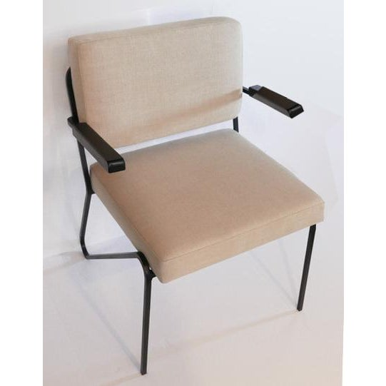 Mid-Century Modern 60s Wrought Iron Chair For Sale - Image 3 of 5