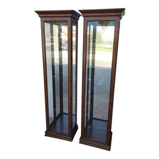 1980s Vintage Philip Reinish Curio Cabinets - A Pair For Sale
