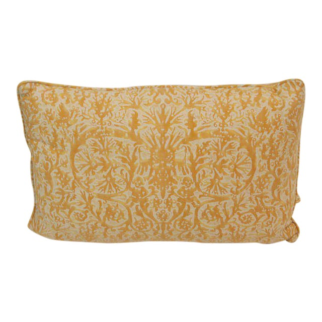 Vintage Fortuny Pillows - Set of 4 For Sale