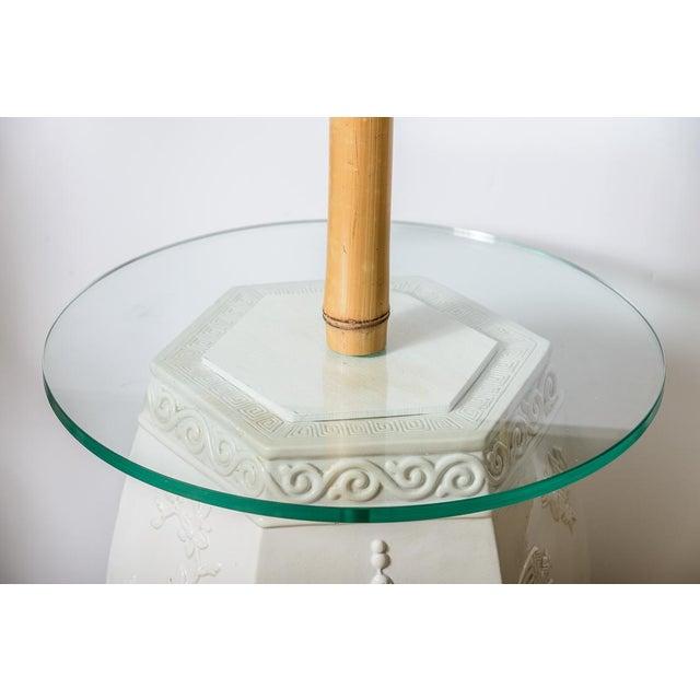 Wondrous Custom White Garden Stool Bamboo Floor Lamps A Pair Ncnpc Chair Design For Home Ncnpcorg