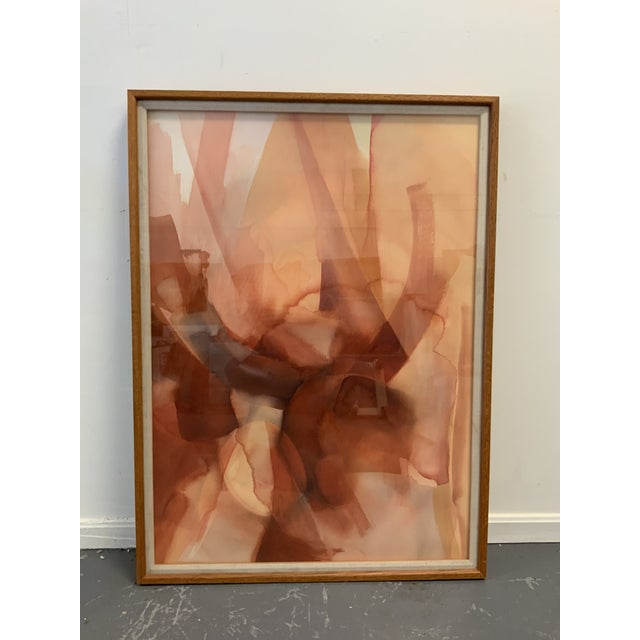 "1980s ""Manifestation"" Abstract Watercolor Painting For Sale - Image 5 of 5"