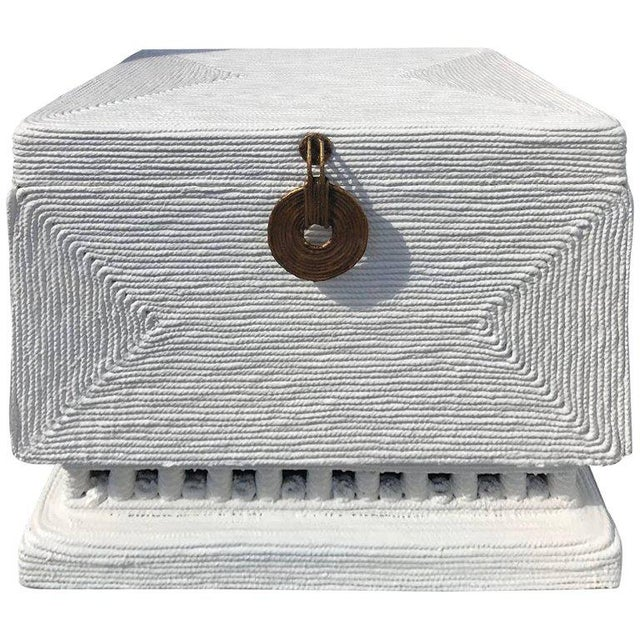 Midcentury Rope Chest or Trunk in the Manner of Christian Astuguevieille For Sale - Image 9 of 9