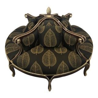 Late 20th Century Christopher Guy Louis XV Style Confidante Sofa For Sale