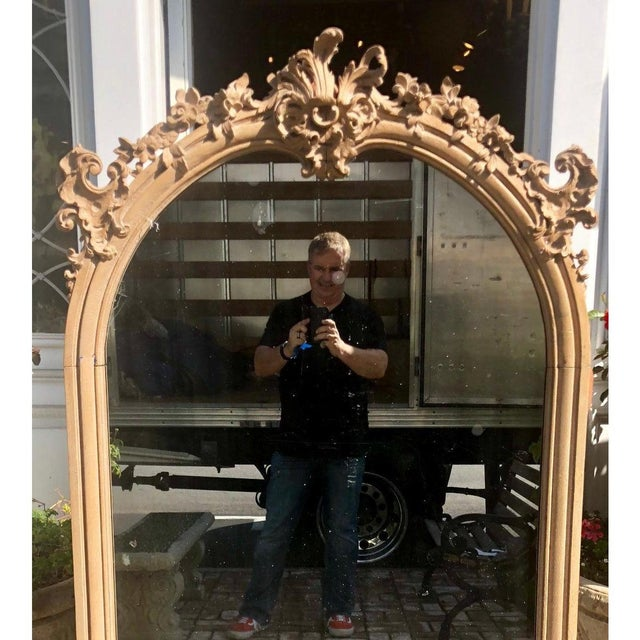 19th Century Antique 19th C Gustavian Swedish Empire Beechwood Mirror For Sale - Image 5 of 6