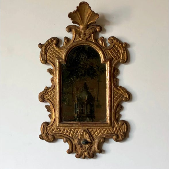 Venetian Baroque Gilt and Mirrored Sconce For Sale In West Palm - Image 6 of 6