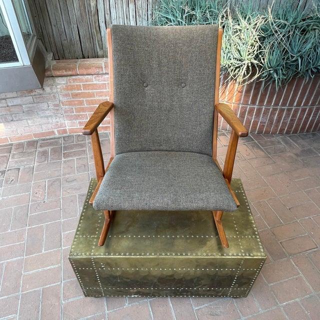 1950s Vintage Danish Georg Jensen Tønder Møbelværk Teak Rocking Chair For Sale In Phoenix - Image 6 of 10