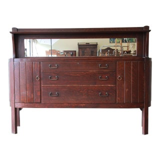 Antique Mission Oak Sideboard by Grand Rapids Chair Co., Circa 1910 For Sale