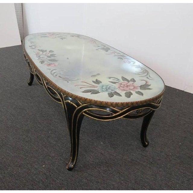 Mid 20th Century Regency Style Églomisé Coffee Table For Sale - Image 5 of 8