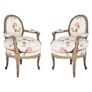 Louis XV Armchairs - A Pair For Sale