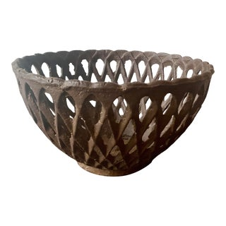 Vintage French Country Wrought Iron Planter For Sale