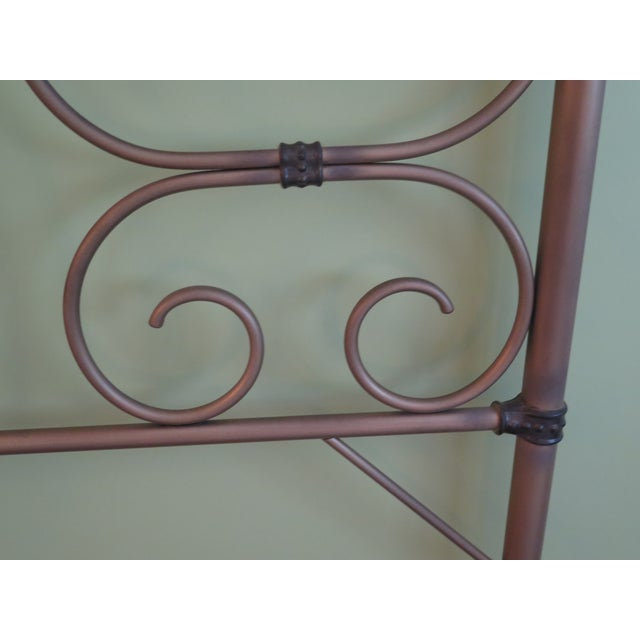 Traditional Vintage Victorian Style Metal High Back Queen Size Bed Frame For Sale - Image 3 of 12