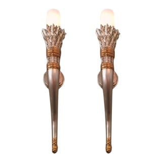 Craig Corona Sirmos Harvest Wall Sconces - a Pair For Sale
